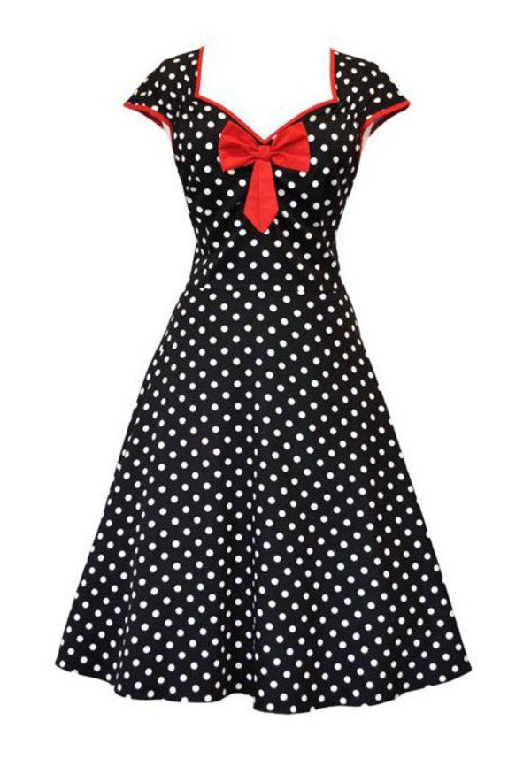 50s style black dress vintage dress vintage retro retro dress clothes cute dress 50s style polka dots polka dots dress clothes