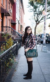 noelles favorite things,blogger,pajamas,romper,shoes,bag,shoulder bag,messenger bag,green bag,thigh high boots