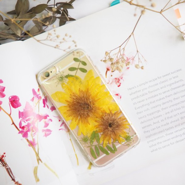 Phone Cover Flowers Floral Iphone Case Iphone6s Iphone Yellow