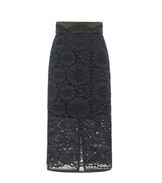 Dorothee Schumacher skirt lace cotton green