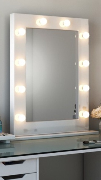 home accessory white gloss mirror white vanity mirror hollywood