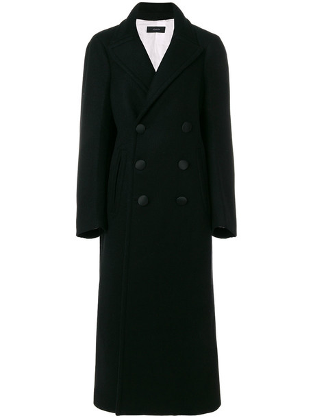 Joseph coat women cotton black wool