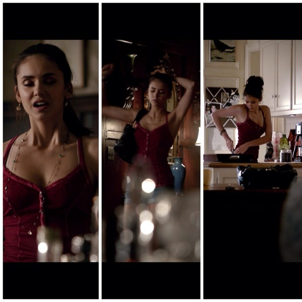 tank top the vampire diaries elena gilbert celebreties nina dobrev