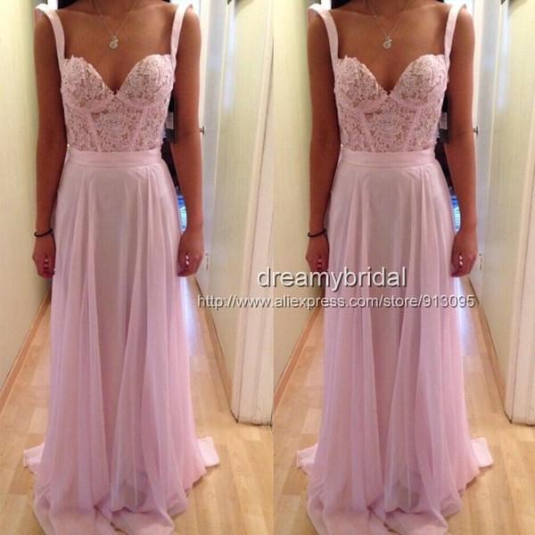 dress pink pink dress pink prom dress long evening dress evening dress lace chiffon dress prom dress