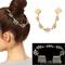 Ladys fashion unique gold tone leaves chain fringe hair comb cuff head band bc4u | ebay