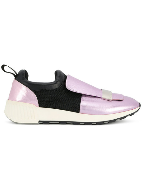 Sergio Rossi running sneakers women sneakers leather purple pink shoes