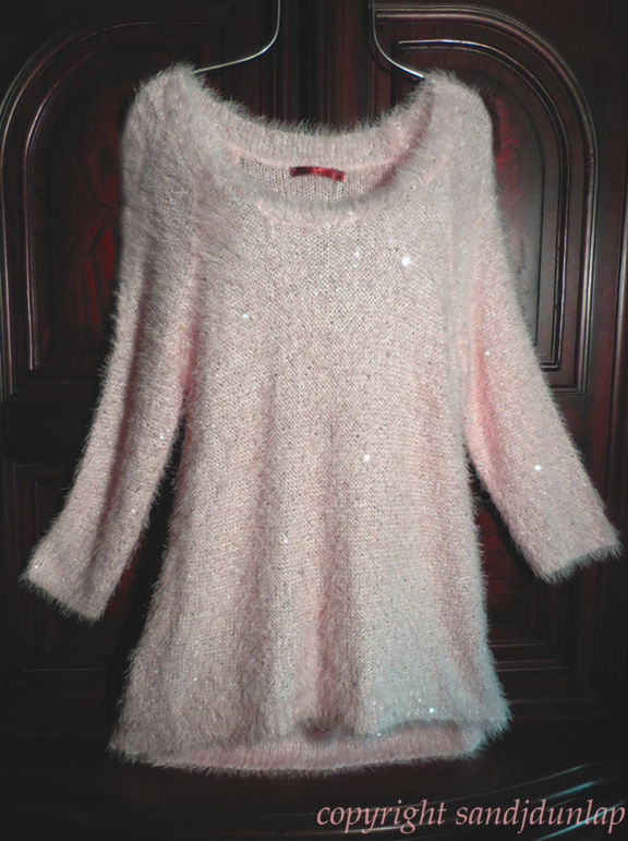 BELLDINI Light Blush Pink~ Soft Cozy Pullover Eyelash Sweater ...