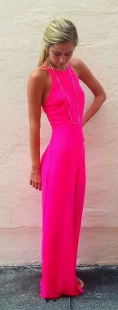 dress pink dress summer dress hot pink dress dime summer shoes summer outfits