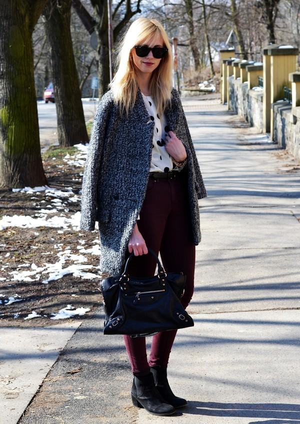 vogue haus blouse coat shoes bag jewels sunglasses