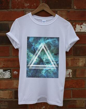 shirt teal green t-shirt alt-j ∆ alt j tees apparel tops oversized tees oversized tops tees apparel tops oversized tees apparel tops basics band t-shirt band merch mens t-shirt oversized t-shirt white t-shirt white blue triangle top traingle triangle print traingle pattern galaxy print galaxy shirt indie triangle