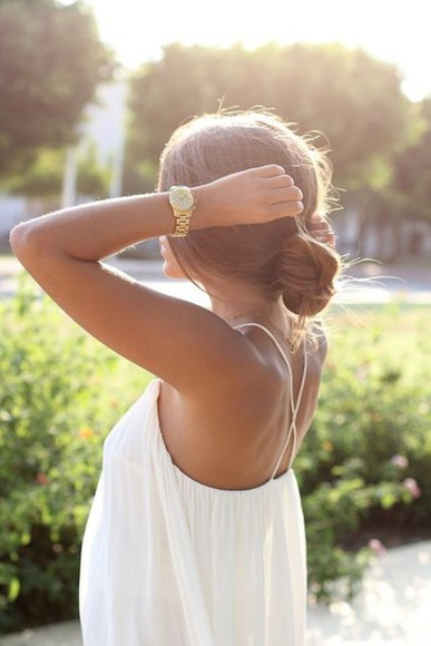 watch shirt white tank open back