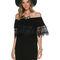 Swell caspian off shoulder dress - black