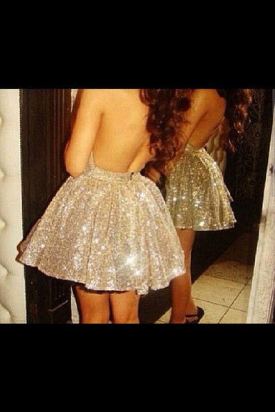 dress sparkle dress sequindress sleeveless dress backless dress