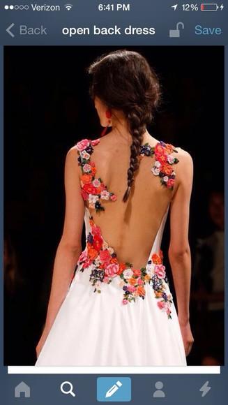 colorful floral elegant dress dress