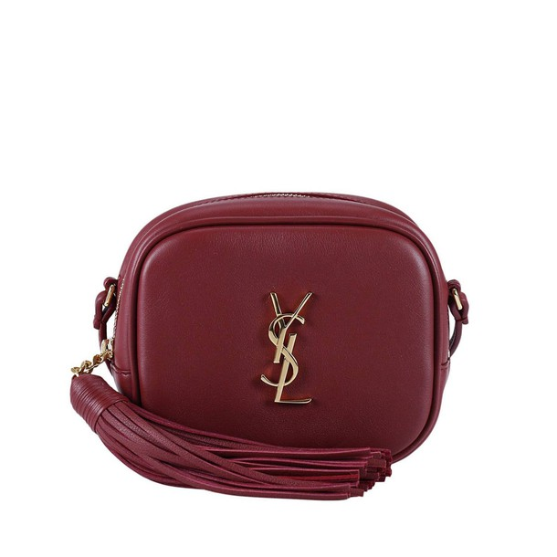 Saint Laurent mini women bag mini bag burgundy