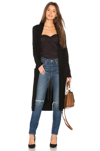 BROWN ALLAN cardigan long cardigan cardigan long black sweater