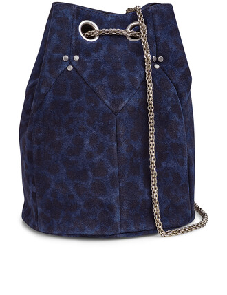 bag navy print suede leopard print black