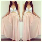 skirt,tank top,long sleeve skirt,white,cut-out,dress,long dress,pink dress,white dress,pink,white crop tops,pink skirt,white top,skater dress,high-low dresses,high heels,bikini,jeans,shorts,maxi dress,summer dress,summer,top,shirt,maxi,pink maxi skirt,cute,city look,beach,pacsun,white tank top,maxi skirt,jewels,salmon,flows,long,blouse