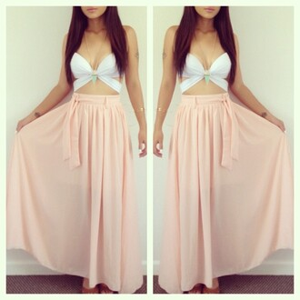 skirt tank top long sleeve skirt white cut-out dress long dress pink dress white dress pink white crop tops pink skirt white top skater dress high-low dresses high heels bikini jeans shorts maxi dress summer dress summer top shirt maxi pink maxi skirt cute city look beach pacsun white tank top maxi skirt jewels salmon flows long blouse