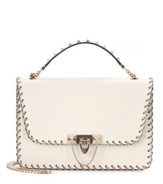 Valentino bag shoulder bag leather white