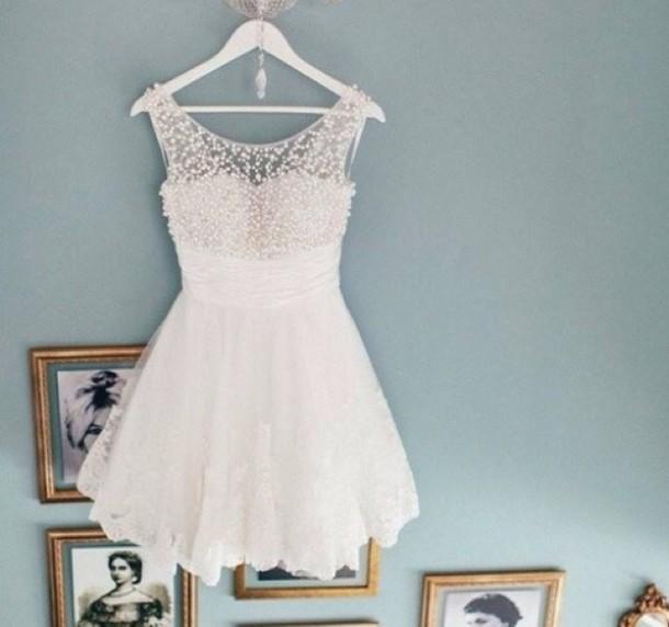 wedding dress white perles beautiful, dress, white dress, white ...