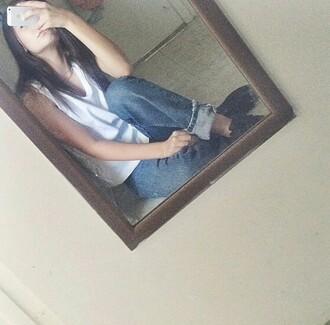 blouse white shirt sleeveless
