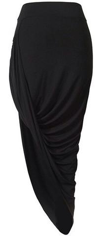 Women's Clothes Aphrodite Asymmetric Skirts Ruched Stretch Asymmetrical Wrap Pencil Skirts Mini Skirts Slant Skirts | RawGlitter.com