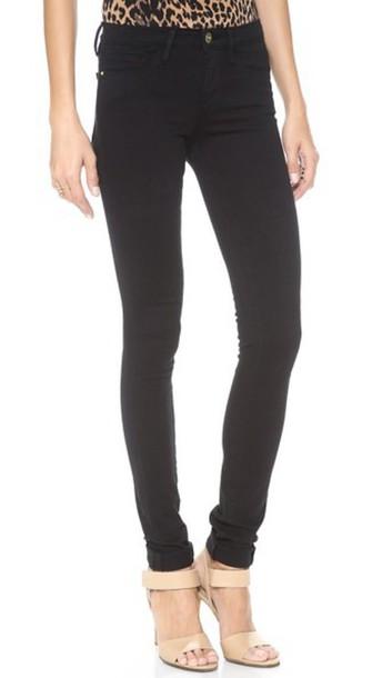 Frame Forever Karlie Tall Skinny Jeans - Noir