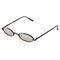 Tiny oval mirrored sunglasses