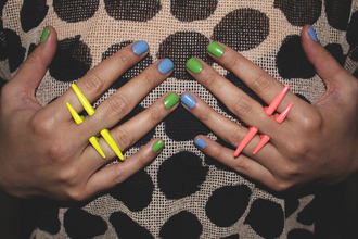 jewels ring neon piercing