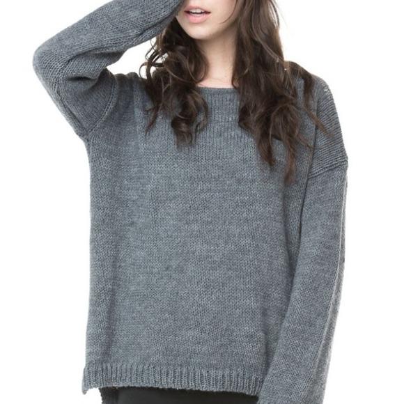 ❌sold❌ @moozhan brandy melville sage knit from lauren's closet on poshmark