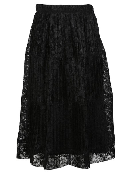 See by Chloe skirt lace skirt pleated lace