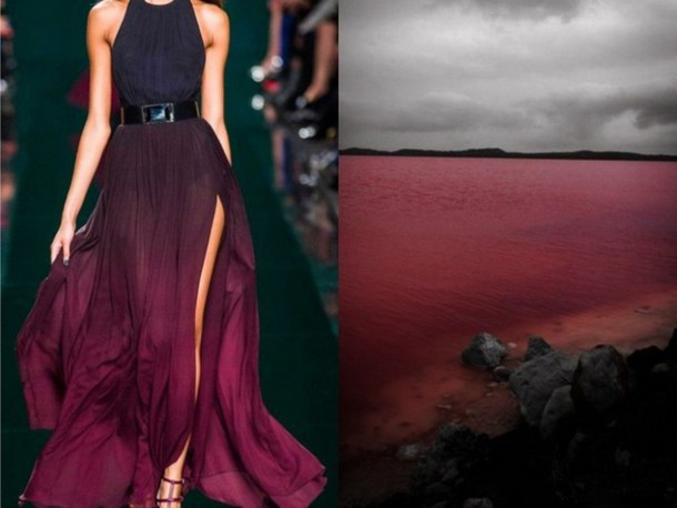 Dress Sky Purple Ombre Red Dark Sea Sunset Prom Dress Prom