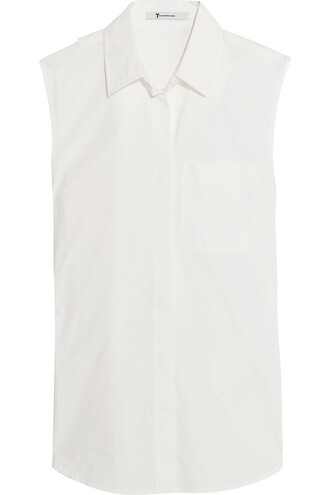 shirt back cotton white top