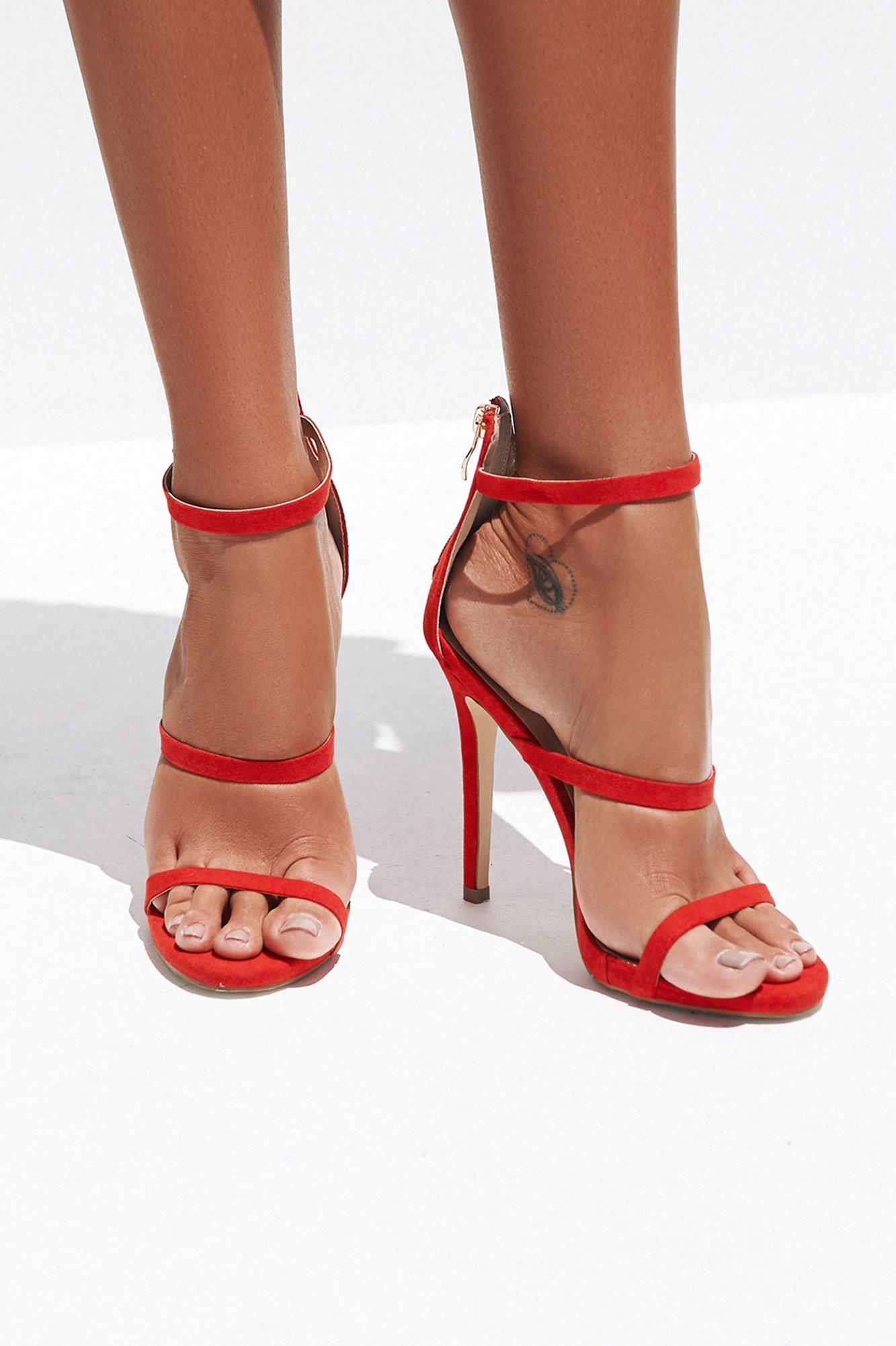 Delta Heels (Red Suede) BILLINI