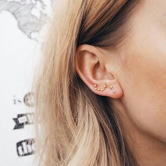 jewels jewelry ear cuff earrings boho stars hipster indie galaxy
