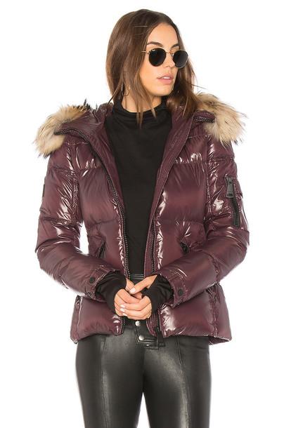 SAM. jacket puffer jacket fur red