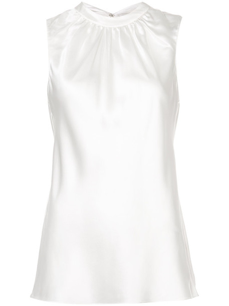Sachin & Babi top sleeveless top sleeveless women white silk