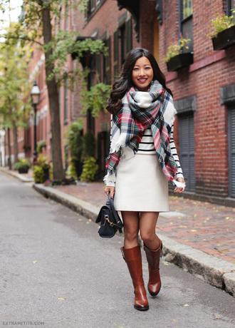 extra petite blogger shoes scarf t-shirt bag