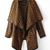Brown Long Sleeve Geometric Print Cape Sweater #ECS007017 on Luulla