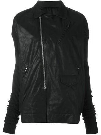 jacket biker jacket oversized black