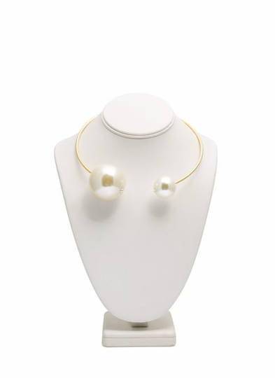 Oversized-Faux-Pearl-Choker IVORYGOLD - GoJane.com