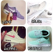 shoes,nike running shoes,nike shoes,nike air,nike sneakers,white,black,purple,pink,pink dress,hair accessory