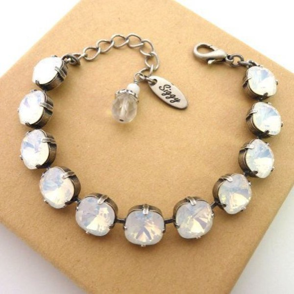 opal white store product bracelet fire that blue img