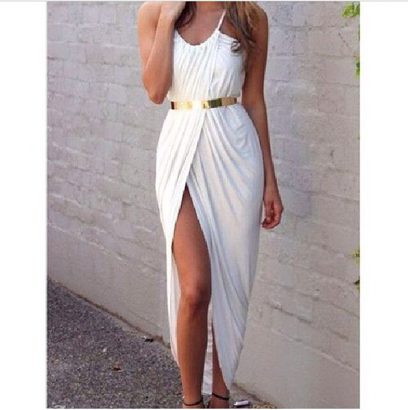 gold sequins Belt Belt dress gold rings godess summer shorts summer outfits maxi dress white dress