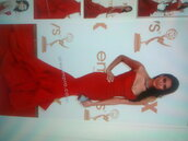 dress,red,mermaid,tight,prom,gown,train,long,strapless