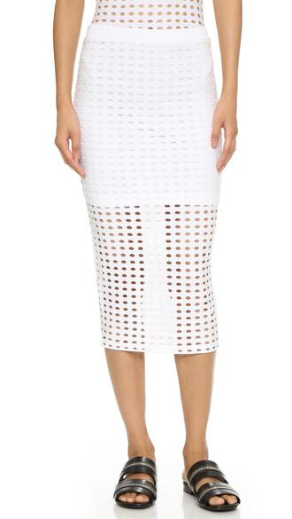 skirt pencil skirt knit white