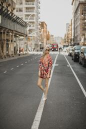 yael steren,blogger,jacket,shorts,shoes,jewels,sunglasses,make-up,spring outfits,loafers