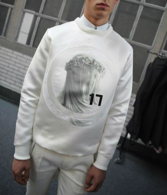 white sweater mens sweater menswear givenchy