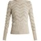 Elson crew-neck zigzag-embroidered sweater